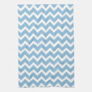 Sky Blue Chevron Hand Towels