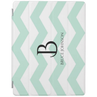 Sky Blue Chevron Monogram iPad Air Cover