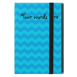 Sky blue chevrons iPad mini cover