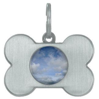 sky. Blue cloudy sky Pet Name Tag