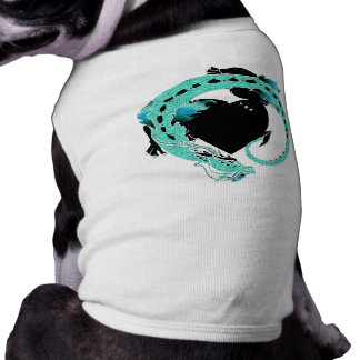 Sky Blue Coiled Dragon Doggie Tee