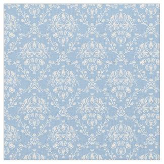 Sky Blue Damask Fabric
