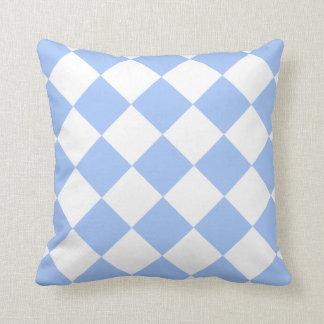 Sky Blue Diamond Pattern Throw Pillow