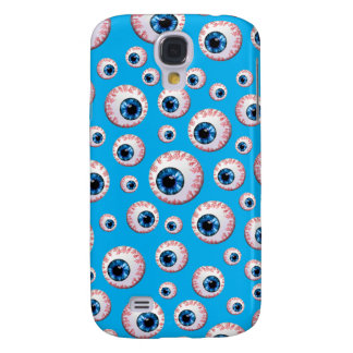 Sky blue eyeball pattern