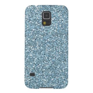 Sky Blue Faux Glitter Case For Galaxy S5