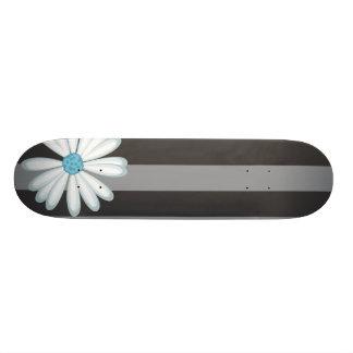 Sky Blue Floral Racing Tribal Daisy Tattoo Pattern Skateboard