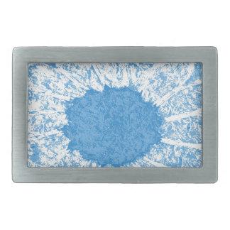 sky blue flower belt buckles