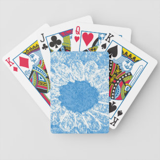 sky blue flower poker deck