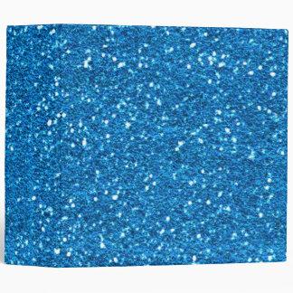 Sky Blue Glitter Binder