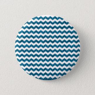 Sky blue glitter chevrons 2 inch round button