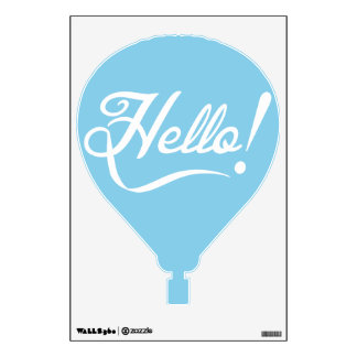 Sky Blue Hello Wall Sticker