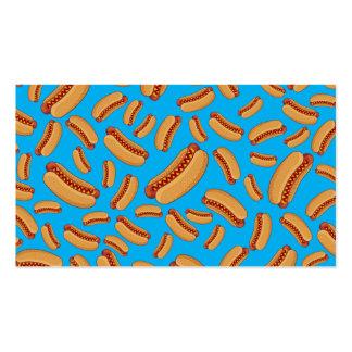 Sky blue hotdogs business card template