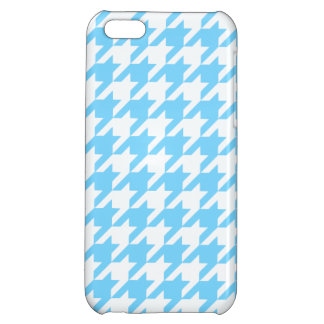 Sky Blue Houndstooth 1 iPhone 5C Cover