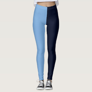 sky blue navy high school pride leggings