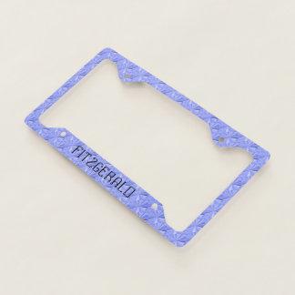 Sky Blue Personalized Diamond Plate Cover by Janz