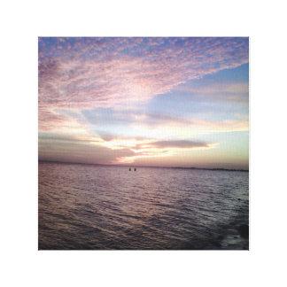Sky,Blue,Pink Canvas Prints