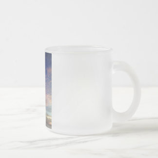 Sky,Blue,Pink Collection 10 Oz Frosted Glass Coffee Mug