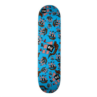 Sky blue pirate ship pattern skateboards