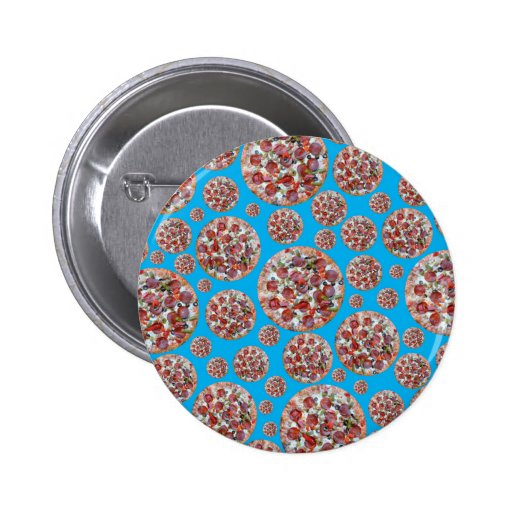 Sky blue pizza pie button