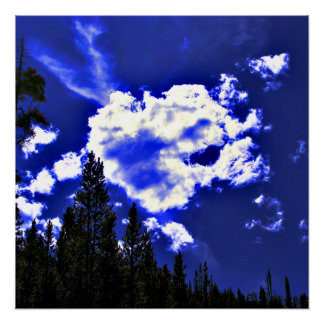 Sky Blue Poster