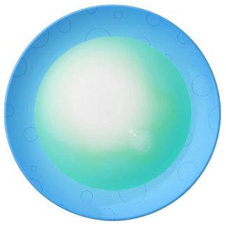 Sky Blue Pretty 3D Designer Dinner Plate