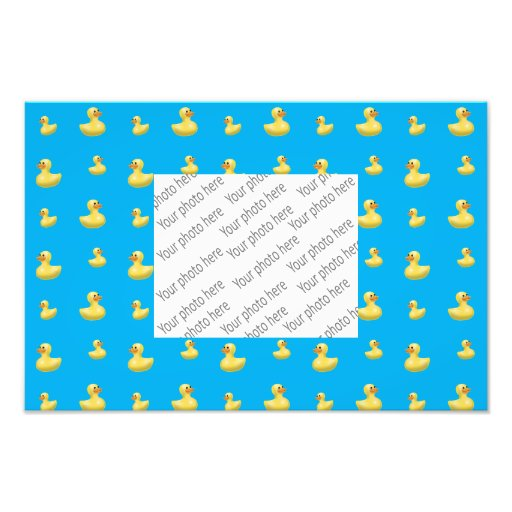 Sky blue rubber duck pattern photograph