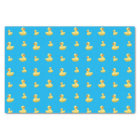 Sky blue rubber duck pattern tissue paper