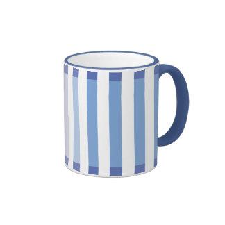 Sky Blue Shades Ringer Coffee Mug