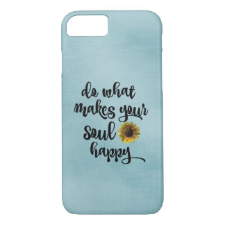 Sky Blue Soul Happy Quote iPhone 7 Case