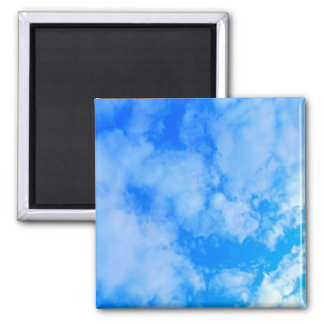 Sky Blue Square Magnet