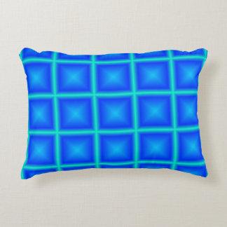 Sky Blue Star Poly Geometric Custom Decorative Pillow