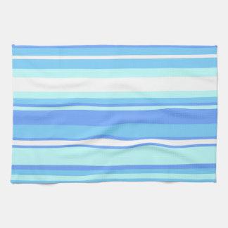 Sky blue stripes hand towels