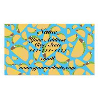 Sky blue tacos Double-Sided standard business cards (Pack of 100)
