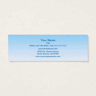 Sky Blue White Ombre Mini Business Card