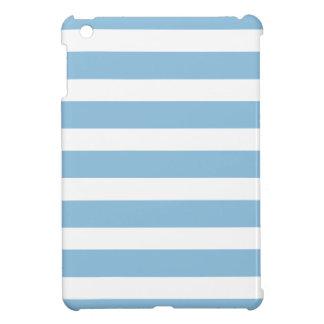 Sky Blue Wide Stripes Cover For The iPad Mini