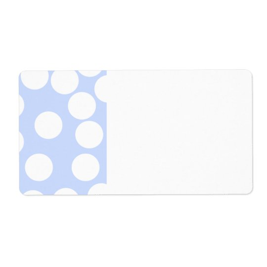 Sky blue with large white dots.