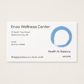 Sky Blue Zen Symbol Business Card