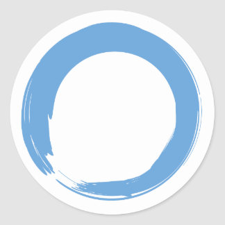 Sky Blue Zen Symbol Classic Round Sticker