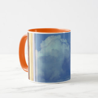 Sky Brick Window Mug -orange