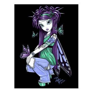 """Sky"" Butterfly Rose Fairy Postcard"