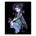 """""""Sky"""" Butterfly Rose Fairy Posters"""