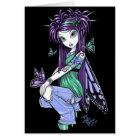 """Sky"" Butterfly Rose Tattoo Fairy Card"