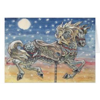 """Sky Carousel"", a merry-go-round greeting card"
