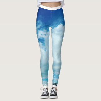 Sky Cloud Tree Leggings
