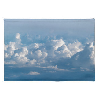 Sky clouds heaven abstract blue placemat