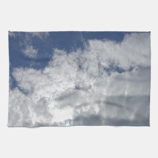 sky clouds kitchen towel