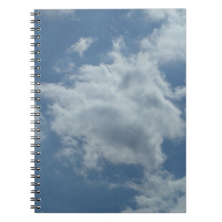 Sky clouds photo note book (80 lined pages S/W)
