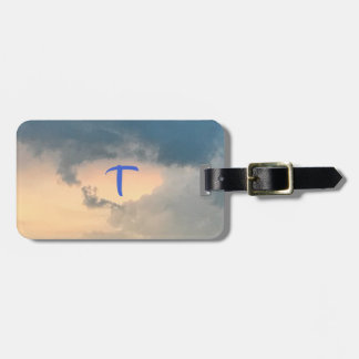 Sky Clouds Sunlight Monogram Luggage Tags