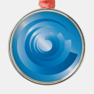 sky colors spinning metal ornament