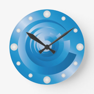 sky colors spinning round clock